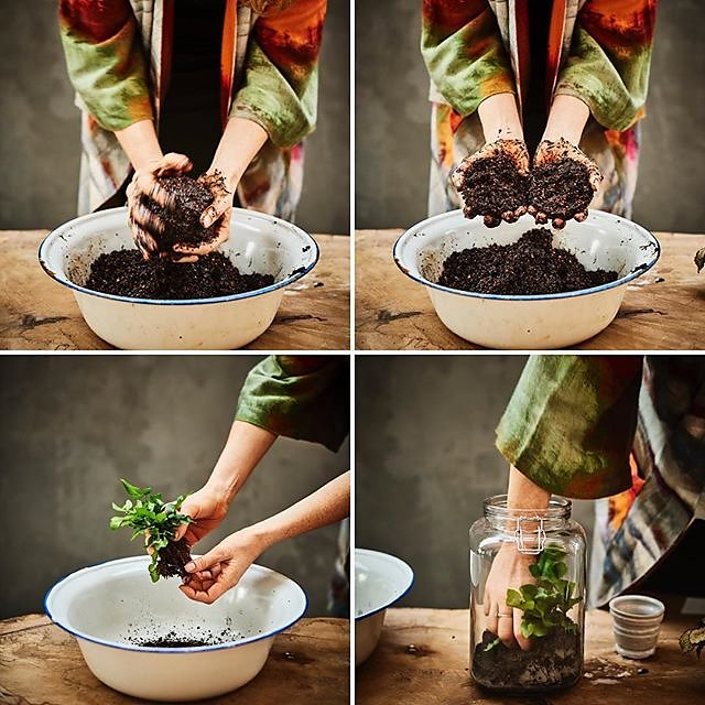 Get your hands dirty with the ever glamorous @alysonmowat Terrariums & Kokedama @kylebookscraft #kokedama #jarrarium .