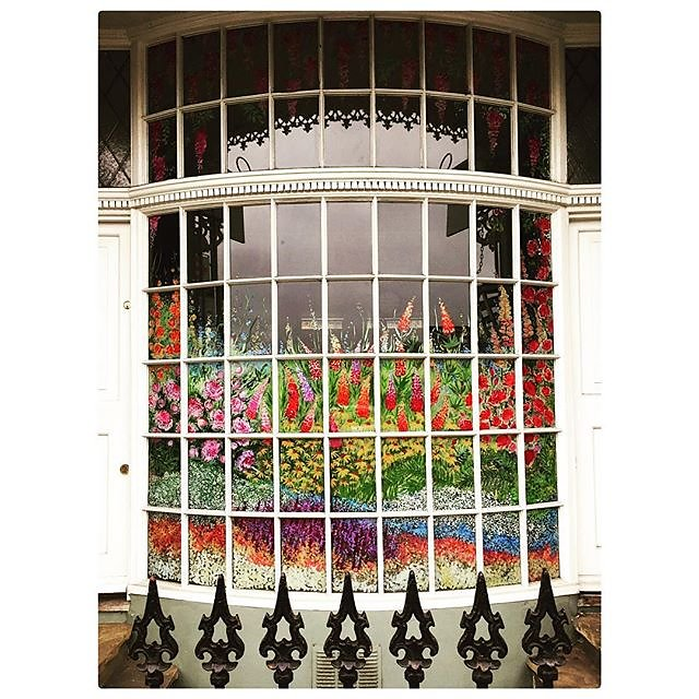 Just noticed this amazing painted window......