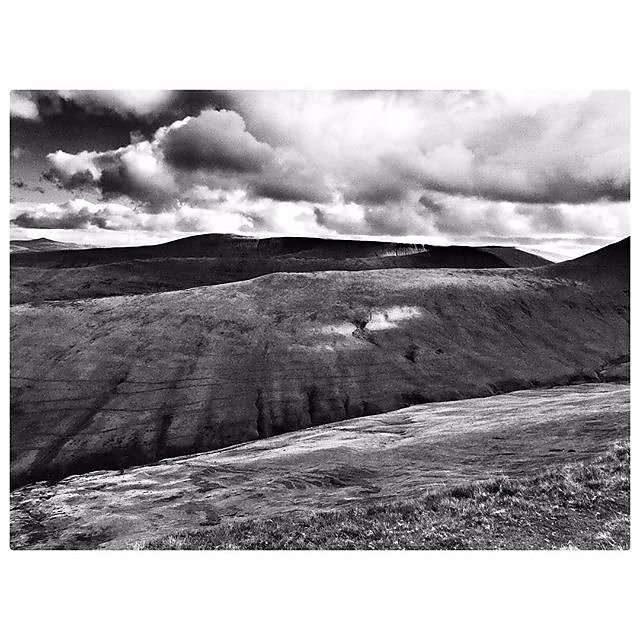 Ascent to #penyfan #blackandwhite #landscape