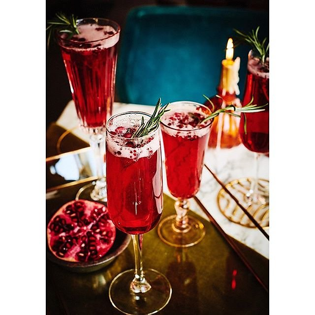 Find the recipe for Rose Pomegranite Fizz in @redemptionbar new book officially published today by @kylebooksuk Styled by @agathegits #nonalcoholiccocktail #rose #pomegranite #fizz Congratulations Catherine & Andrea