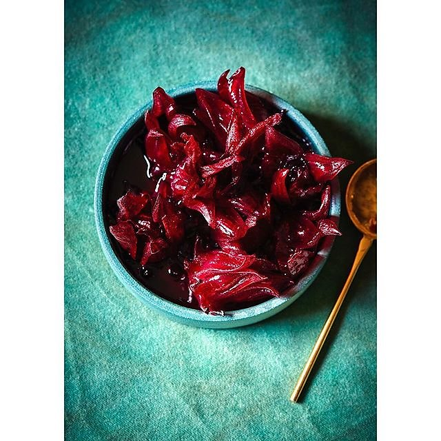 Hibiscus flowers in syrup - recipe for Hibiscus Cordial in @redemptionbar new book #crackingchristmaspresent #alcoholfree .