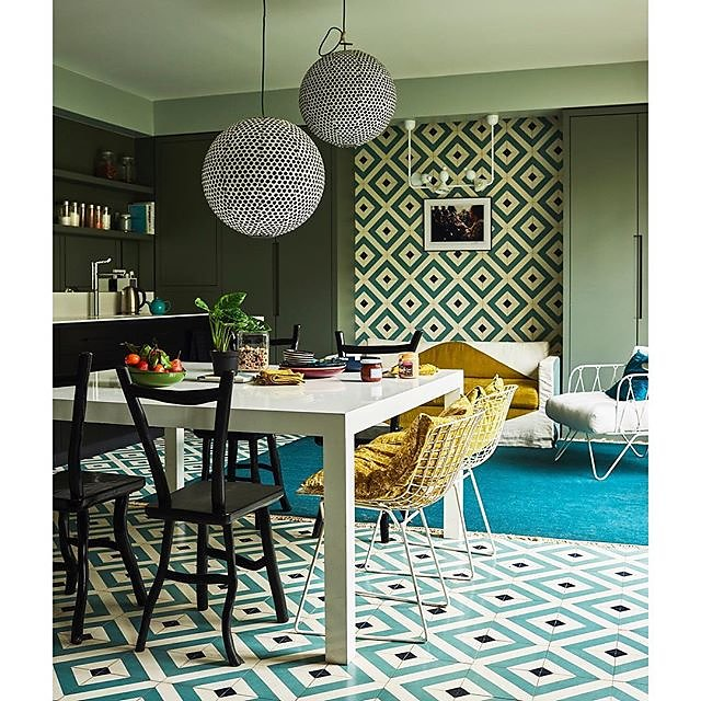 Featured in Be Bold by @lifeunstyled ~ Anne Geistdoerfer's kitchen shows you how to decorate with restraint using a perfect balance of pattern & colour @rylandpetersandsmall #unique #bebold #bebrave #greatchristmasgift .
